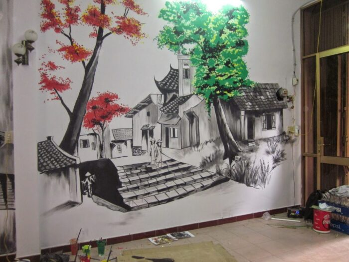Vẽ tranh tường tường tại Hà Giang