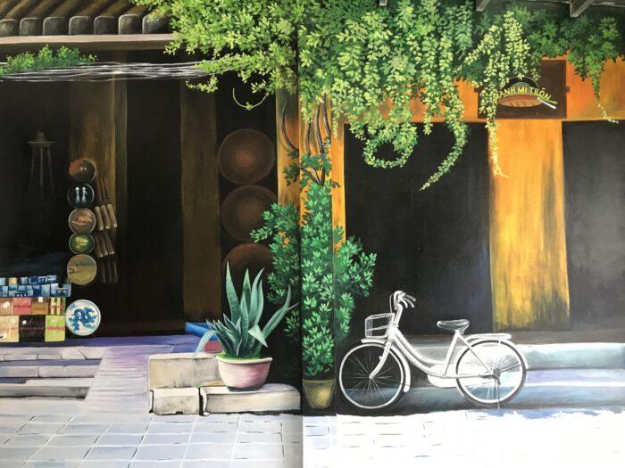 Vẽ tranh tường tại Cao Bằng