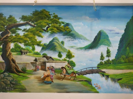 Vẽ tranh tường tại Bình Định
